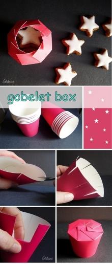 จากแก้วกระดาษธรรมดา เพิ่มมูลค่ากลายเป็นกล่องของขวัญ