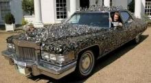 Silver Spoon Cadilac & Glass Car