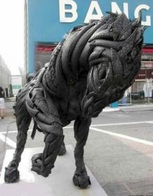 ศิลปะจากยางรถยนต์