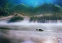 ภาพสวยๆ ชุดเมฆหมอกตัดผืนน้ำ