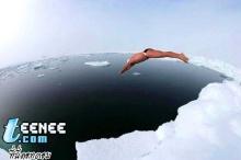 ว่ายน้ำในขั้วโลกเหนือ