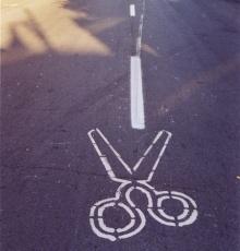 Unusual Road Marking \'Street Art\' by Peter Gibson