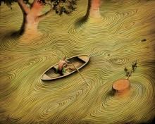 ภาพวาดโดย Vladimir Kush แนว Illusion