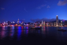 Beautiful Night Scene in Hong Kong