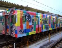 ♠รถไฟที่ญี่ปุ่นเพ้นท์ลายเท่ห์ชะมัด♠