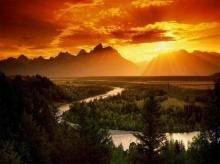 พระอาทิตย์ตกดิน สวย สวย