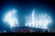 ภาพการซ้อมพิธีเปิดโอลิมปิคจากปักกิ่ง