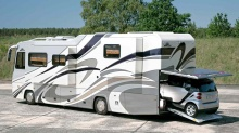 Land Yachts: Ultra Luxurious RVs with Parking Garage!